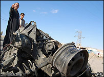 Aftermath of car bombing in Ramadi - 27/3/2007
