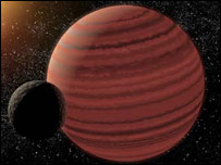 Artist's impression of a brown dwarf (Nasa)