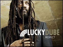 Lucky Dube pictured on his most recent album, Respect (Image: luckydubemusic.com)