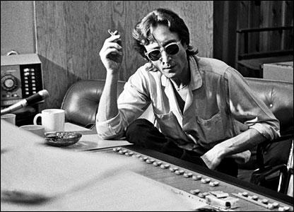 Lennon in the studio producing the Double Fantasy album