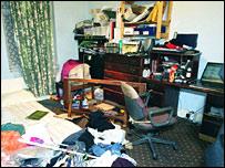 Tsouli's bedroom in West London