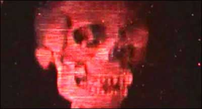 Still from holographic image of skull, Nature