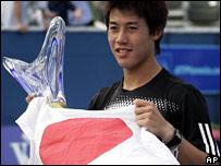 BBC SPORT | Tennis | Newcomer Nishikori shocks Blake