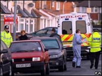 Foxton Road, Birmingham, following police raids