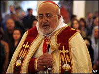 Patriark Emmanuel III Delly i Babel, ledare av den gamla kaldeiska kyrkan, 24 December 2007