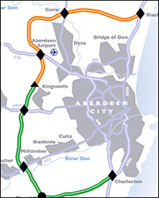 Awpr Route Map BBC NEWS | UK | Scotland | North East/N Isles | City bypass