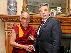 The Dalai Lama and Gordon Brown
