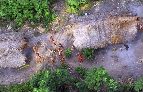 Uncontacted tribe in Brazil