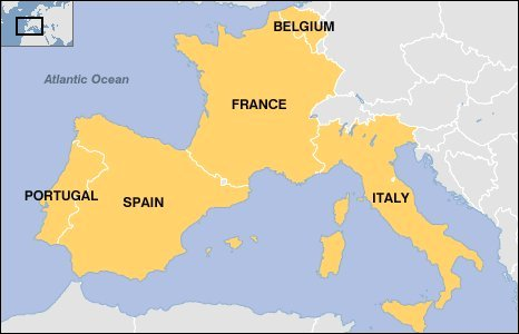 Map Of Portugal Spain France.Map Of Spain France And Italy Imsa Kolese