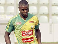 South Africa captain Aaron Mokoena