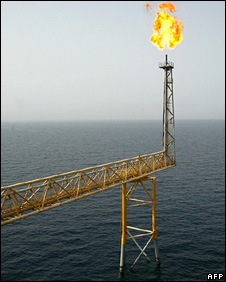 Gas burning in Gulf