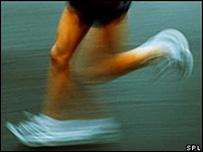 Persona corriendo.