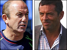 Stoke boss Tony Pulis (left) and Hull manager Phil Brown