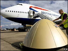 The golden 'nose' is prepared for lift-off