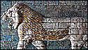 Glazed brick lion