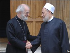 Archbishop of Canterbury Dr Rowan Williams (left) and Grand Mufti of Egypt Dr Ali Gomaa at a conference on A Common Word