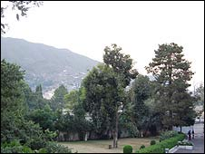 The gardens of the Serena hotel