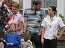 Tony, centre, is a predatory paedophile targetting his stepdaughter in EastEnders