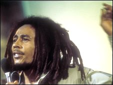 Bob Marley performs on Top of The Pops in the 1970s