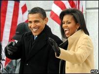 Барак Обама с женой