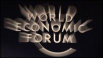 World Economic Forum sign, Davos