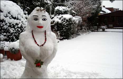animals made of snow - photo #2