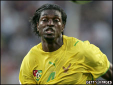 Arsenal and Togo striker Emmanuel Adebayor
