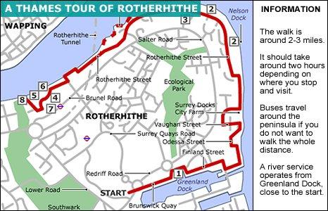 London Tour Map.Bbc London Tour Of Rotherhithe