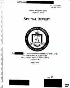 CIA report with sections redacted