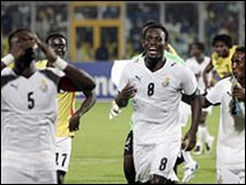 Ghana during the 2008 Nations Cup