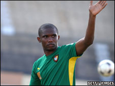 Cameroon captain Samuel Eto'o