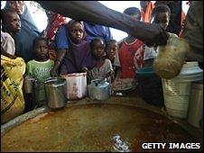 Somali food distribution point