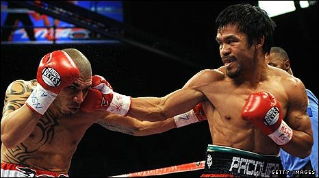 Manny Pacquiao has now won seven titles in seven weight classes.