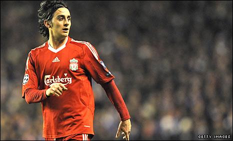 Liverpool midfielder Alberto Aquilani