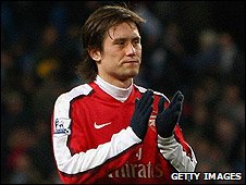 Rosicky came off the bench to score a late equaliser