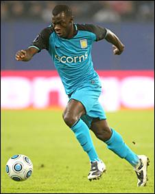 Aston Villa's Moustapha Salifou