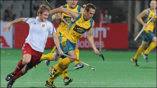 Bbc Sport Hockey England Stun Australia 3 2 At Hockey