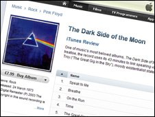 Pink Floyd tracks on iTunes