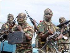Nigerian oil rebels, file image
