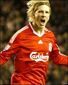 Liverpool striker Fernando Torres