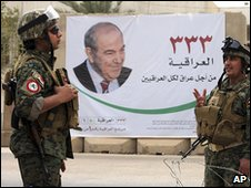 Poster of Iyad Allawi in Baghdad