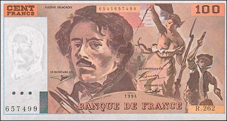 100 franc note