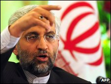 Iran's Saeed Jailii takes questions at news conference in Beijing