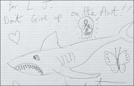 Bbc News Cab Driver Given Damien Hirst Drawing As Tip
