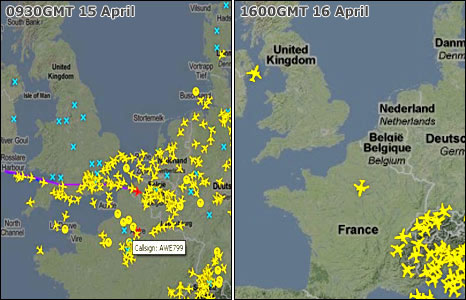 BBC News - Volcanic ash: Flight chaos to continue into weekend