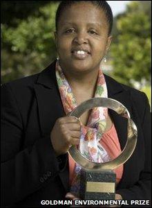 Thuli Makama, winner of the Goldman Environmental Prize