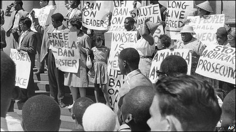 The protest against apartheid amandla
