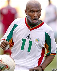 Senegal forward El-Hadji Diouf
