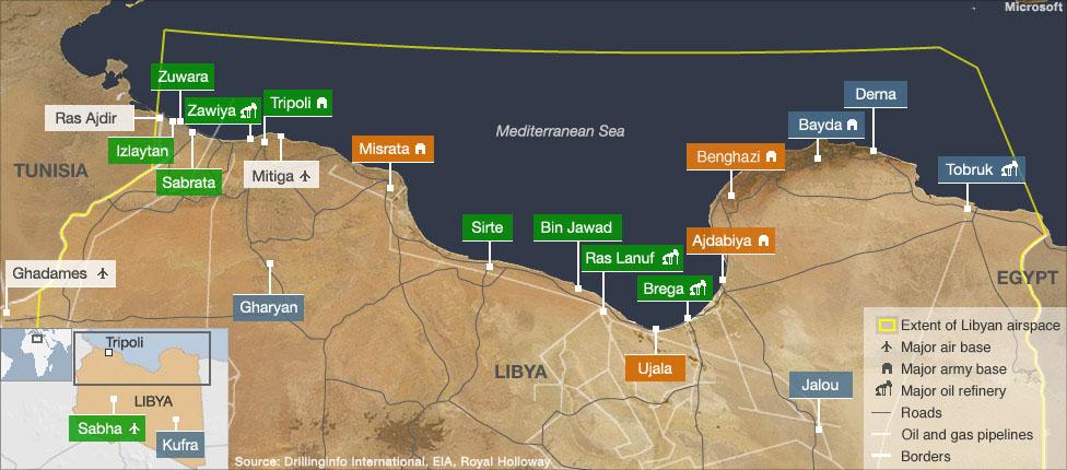 BBC News - Libya in maps